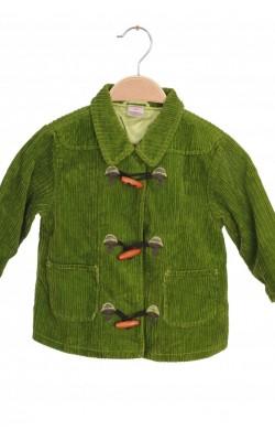 Jacheta catifea reiata verde Gymboree, 2 ani