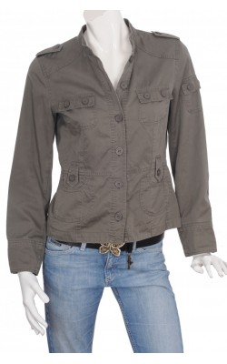 Jacheta H&M din bumbac, culoare kaki, marime 40