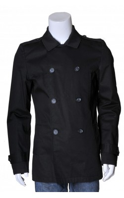 Jacheta neagra din bumbac Tarocash, usor cambrata, marime S