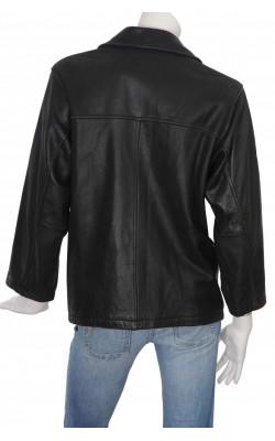 Jacheta neagra din piele naturala Brandon Thomas, marime L