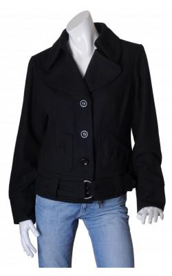 Jacheta neagra stofa amestec lana Vero Moda, marime 46