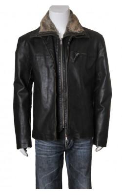 Jacheta piele captusita cu fleece Jacks, marime 52