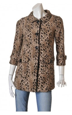 Jacheta print leopard H&M, marime 38