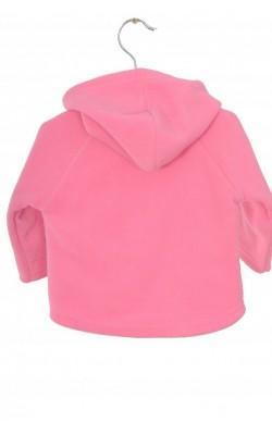 Jacheta roz, fleece captusit cu bumbac, 1-3 luni
