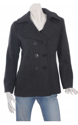 Jacheta stofa lana Nautica, culoare gri, marime 40