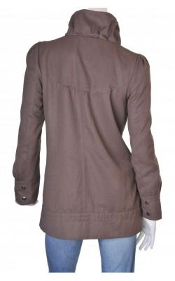 Jacheta taupe din tesatura texturata Vero Moda, marime M