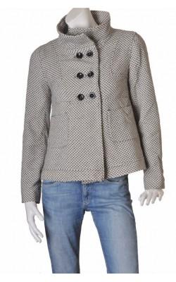 Jacheta tesatura amestec lana Zara Trf, marime 40
