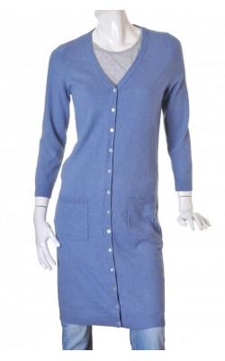 Pardesiu tricot bleu Tante Maggy, marime M