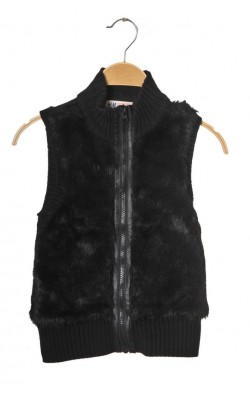 Jacheta tricot si blanita H&M, 8-10 ani
