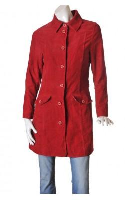 Jacheta velur rosu H&M L.o.g.g., marime 38