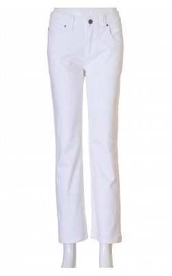 Blugi albi Armani, model drept, stretch, marime 38