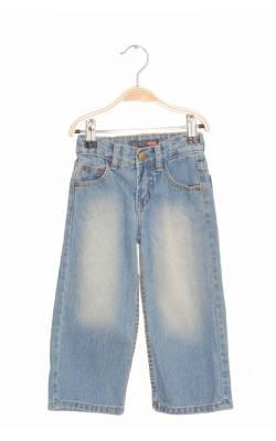 Jeans bleu prespalati Exit, talie ajustabila, 2 ani