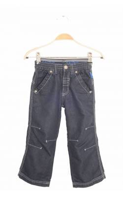 Jeans bleumarin Lindex, dubla talie, 4 ani