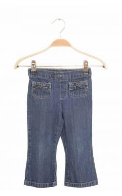 Jeans bleumarin buzunare cu volane Faded Glory, 2 ani