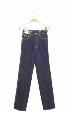 Jeans bleumarin cusaturi albe in contrast Jordache, 10 ani
