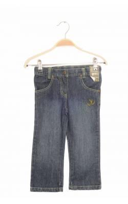 Jeans bleumarin cusaturi fistic Fixoni, talie ajustabila, 3 ani