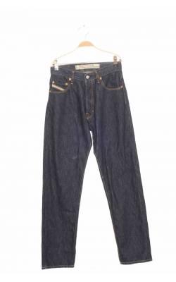 Jeans bleumarin cusaturi galbene Diesel, 14-15 ani