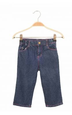 Jeans bleumarin cusaturi roz Beverly Hills Polo Club, 4 ani