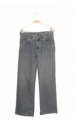 Jeans bleumarin Faded Glory, talie ajustabila, 12 ani