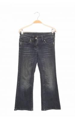 Jeans broderie fir metalic C&A, talie ajustabila, 9 ani