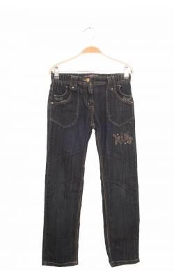 Jeans broderie fir metalic si strasuri Gems, 12 ani