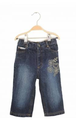 Jeans broderie florala Calvin Klein, 3 ani