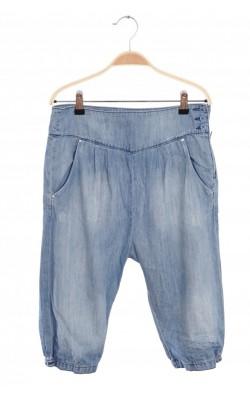 Jeans capris prespalat H&M, tur lasat, 11-12 ani
