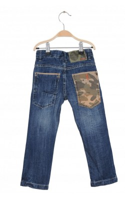 Jeans detalii camuflaj Cubus, talie ajustabila, 3 ani