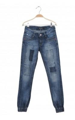 Jeans Detroit by Lindex, decor pietre roz, 12 ani