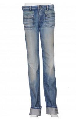 Jeans prespalati Diesel, dungi bej contrast, marime 36