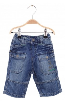 Jeans Dopo Dopo, dinozaur brodat pe buzunar, 18 luni