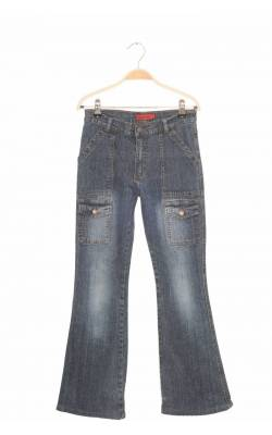 Jeans flare stretch Brazza Street, 14 ani