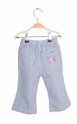 Jeans cu broderie florala Friends, 12 luni