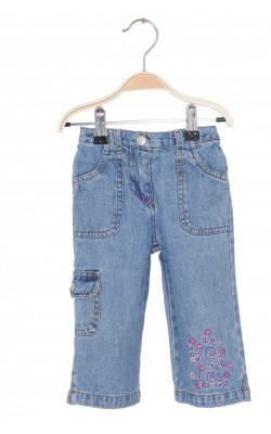 Jeans Friends, broderie picior, 12 luni