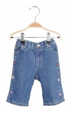 Jeans buzunare brodate Gap, 3-6 luni