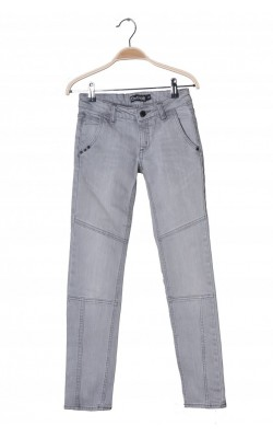 Jeans gri skinny Detroit by Lindex, 11 ani