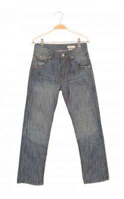 Jeans H&M &Brag Regular Seat, talie ajustabila, 10-11 ani