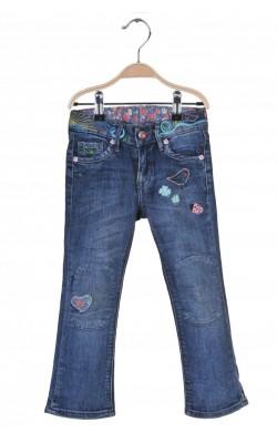 Jeans H&M narrow seat, bootcut leg, 2-3 ani