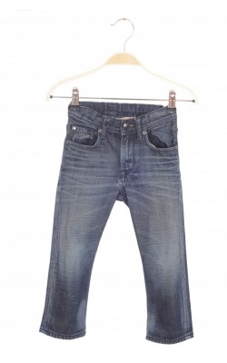 Jeans H&M relaxed fit, talie reglabila, 2-3 ani