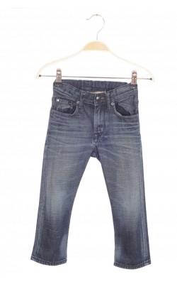 Jeans H&M relaxed fit, talie reglabila, 2-3 ani