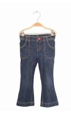 Jeans Jumping Beans, cusaturi si nasture roz, 2 ani