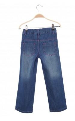 Jeans cusaturi roz Mads&Mette, talie ajustabila, 6-7 ani