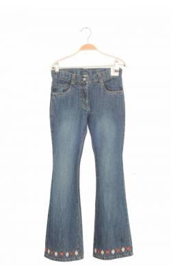 Jeans mansete brodate Gymboree, talie ajustabila, 10 ani