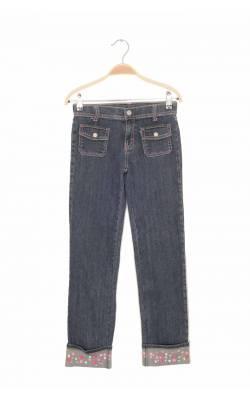 Jeans mansete cu strasuri si broderie  Gymboree, 10 ani