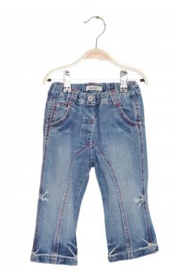 Jeans Name It, talie ajustabila, cusaturi rosii, 18 luni