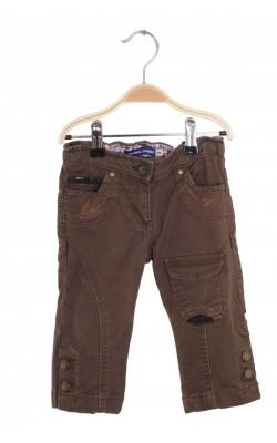 Jeans buzunare brodate Original Marines, talie ajustabila, 2 ani