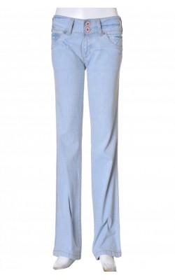 Pantaloni denim bleu Pepe Jeans, stretch, marime 34