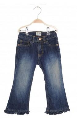 Jeans ruffle flare stretch Place, talie ajustabila, 4 ani