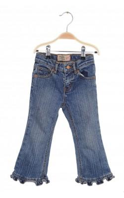 Jeans Place, ruffle flare stretch, talie ajustabila, 3 ani