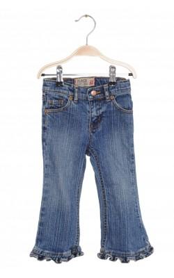 Jeans ruffle flare stretch Place, talie ajustabila, 2 ani